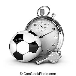 Soccer concept Chronometer isolated