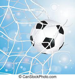 Soccer Ball in Net - Soccer Concept - Goal. Soccer Ball in ...