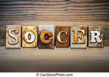 Soccer Concept Letterpress Theme
