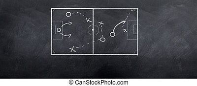 Soccer Corner Kick - A socceer strategy board as the half...