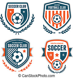 Soccer crests - Set of soccer football crests and emblem...