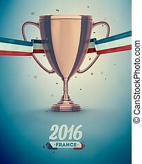 Soccer Cup - Soccer cup, Euro 2016 France, eps 10