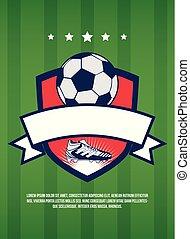 Soccer cup vintage banner