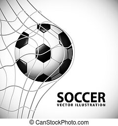 soccer design over gray background vector illustration