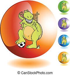 Soccer Dinosaur