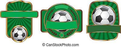 Soccer Emblem Design Set
