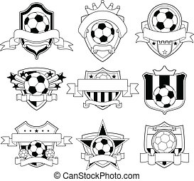 soccer emblem - editable soccer emblem logo