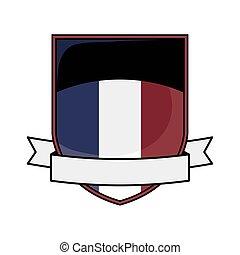 soccer emblem with ribbon