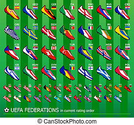 Soccer Europe shoes - Soccer shoes in national flag colors...