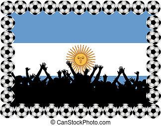 Soccer fans Argentina