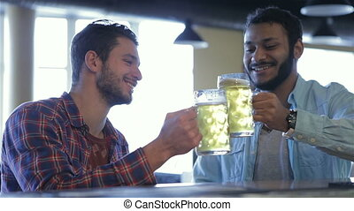 Soccer fans at the bar