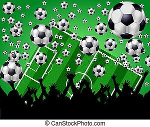soccer fans background