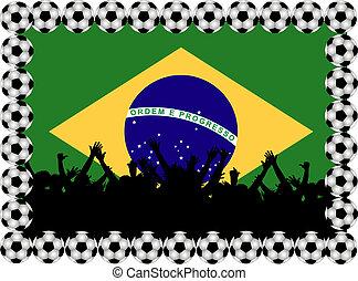 Soccer fans Brasil