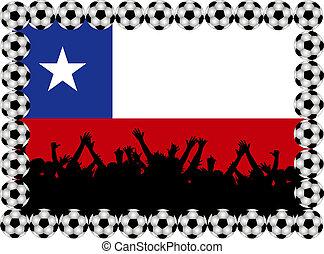 Soccer fans Chile