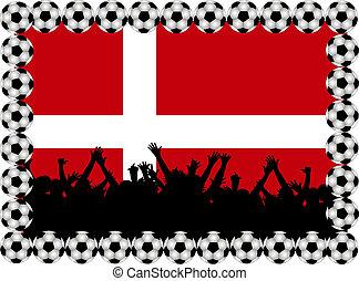 Soccer fans Denmark