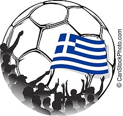 Soccer Fans of Greece