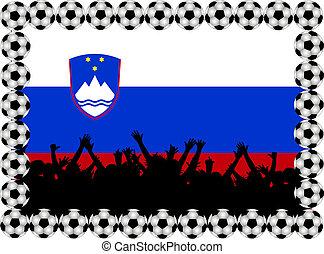 Soccer fans Slovenia