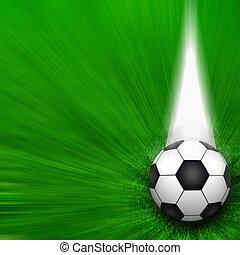 soccer felt, stadion, hos, græs, slør, bold, baggrund