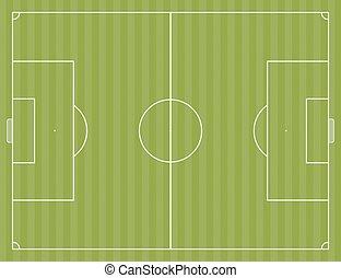 A soccer field layout