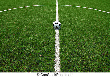 soccer field grass with ball