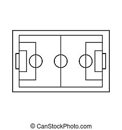 Soccer field icon, outline style