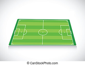 soccer field illustration design