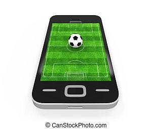 Soccer Field in Mobile Phone