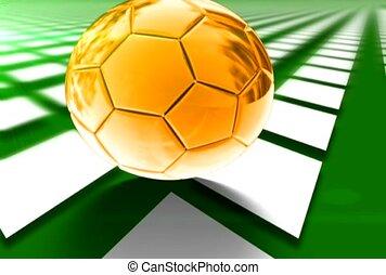 soccer, field, kick