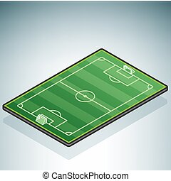 Soccer Field (part of the 3D Isometric Objects Icons Set)