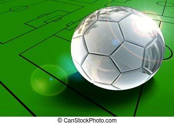 soccer, field, roll