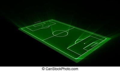Soccer Field - Rotating soccer field. Seamlessly loops.