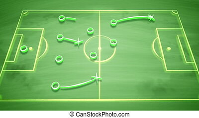"""Soccer field tactics with crosses and passes"" - ""A well-..."