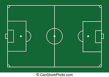 Soccer Field - Vector illustration of soccer field