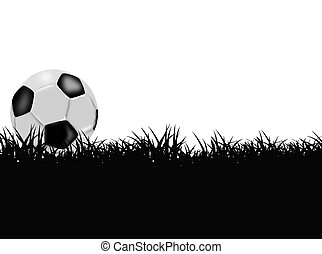 soccer field with a ball