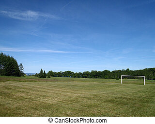 Soccer Field with Goal