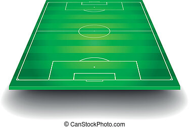 soccer field with perspective - detailed illustration of a ...
