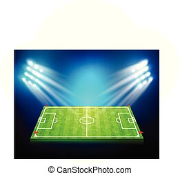 Soccer field with stadium 003