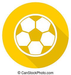 soccer flat design yellow web icon