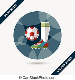 soccer flat icon with long shadow,eps10