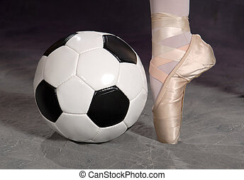 Soccer - Football and Ballet Shoe