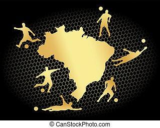 soccer football background gold brasil