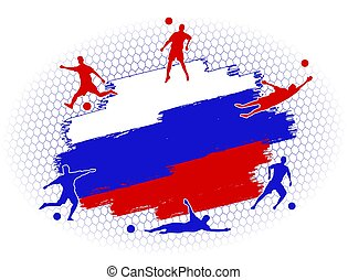 soccer football background russia