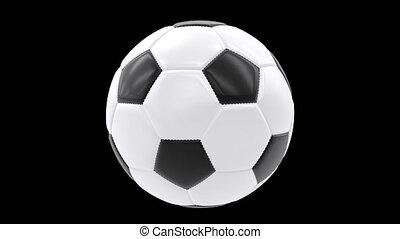 Soccer Football Ball 360 rotation loop isolated on...