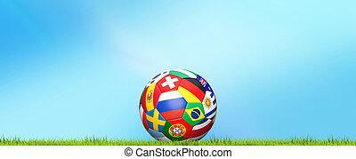 soccer football ball 3d rendering