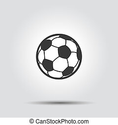 Soccer football ball flat icon with shadow