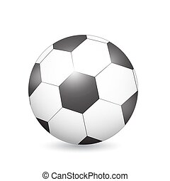 Soccer (Football) ball on white. Vector Illustration