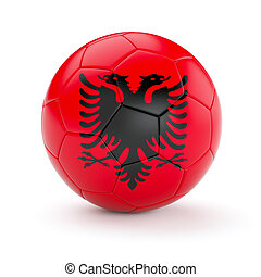 Soccer football ball with Albania flag - Albania soccer ...