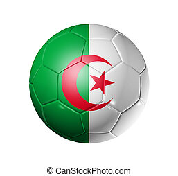 Soccer football ball with Algeria flag - 3D soccer ball with...