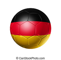 Soccer football ball with Germany flag - 3D soccer ball with...
