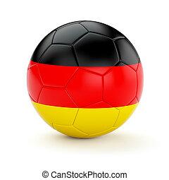 Soccer football ball with Germany flag